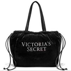 Victoria's Secret Velvet Drawstring Bling Tote